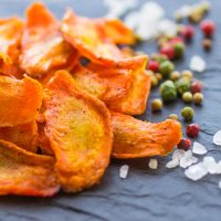 Carrot Chips With Spices