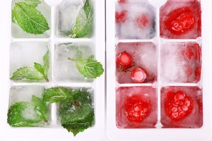Ice-cubes-with-forest-berries