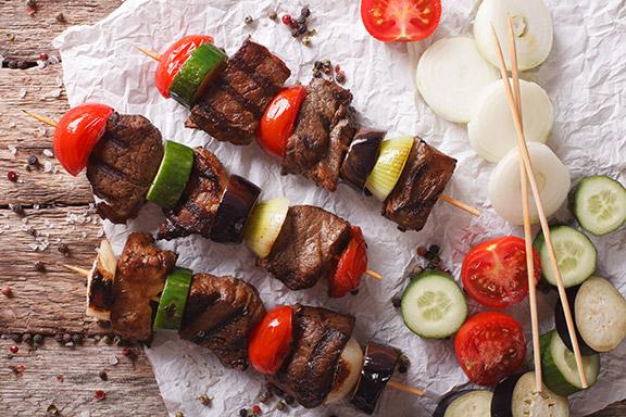Steak-Kebabs