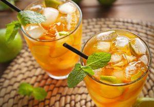 minty fresh iced tea